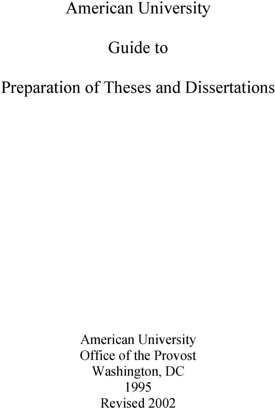 Preparation of archival copies of theses and dissertations