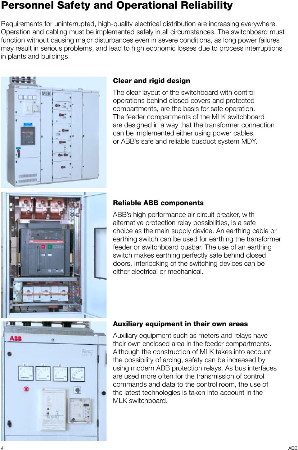 Mlk Low Voltage Switchboard System Pdf Used Circuit Breakers Fuji Buesb2015 15 Amp 2 Pole Breaker The Must Function Without Causing Major Disturbances Even In Severe Conditions As Long Power