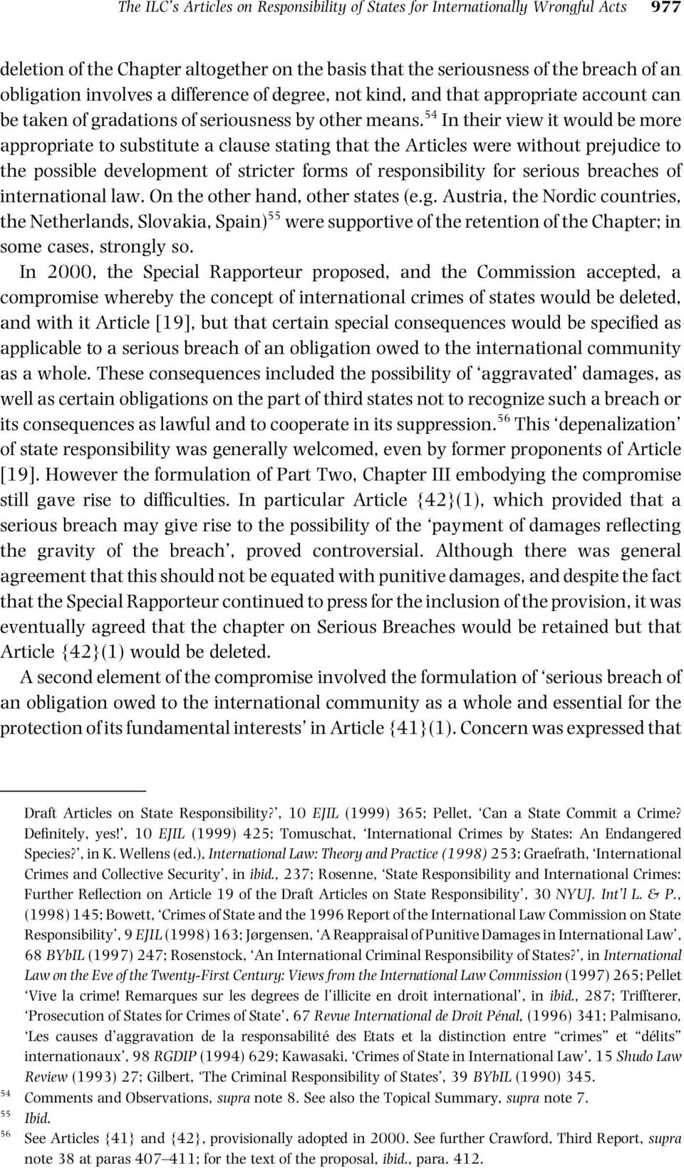 international legal requirement compensation ilc reports concerning talk about responsibility