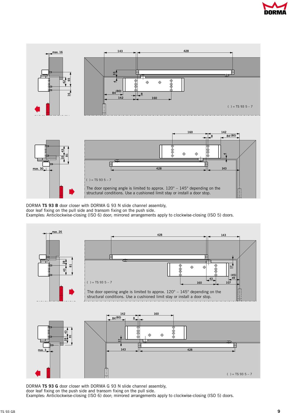 cam action door closer system dorma ts 93 pdf. Black Bedroom Furniture Sets. Home Design Ideas
