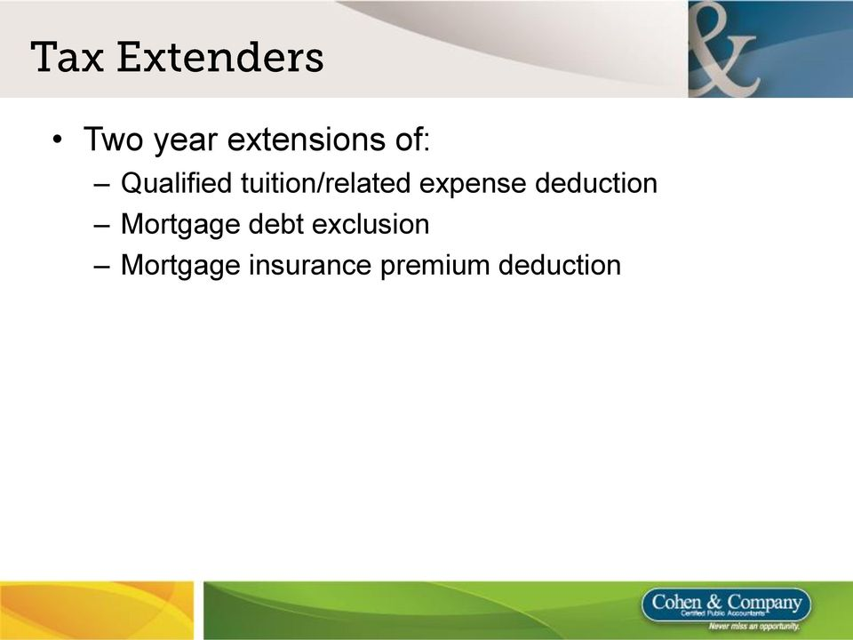 expense deduction Mortgage debt