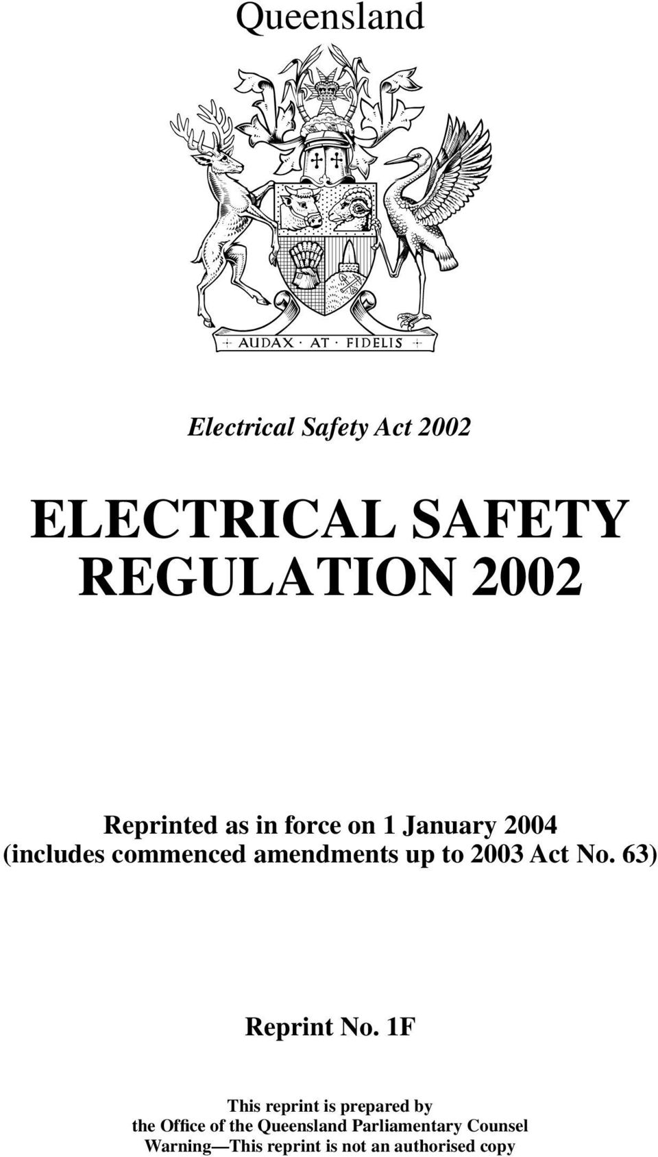 2003 Act No. 63) Reprint No.
