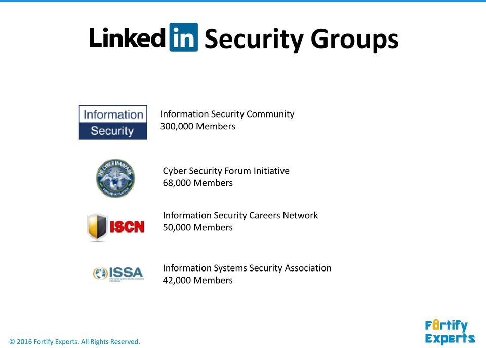 Information Security Careers Network 50,000 Members