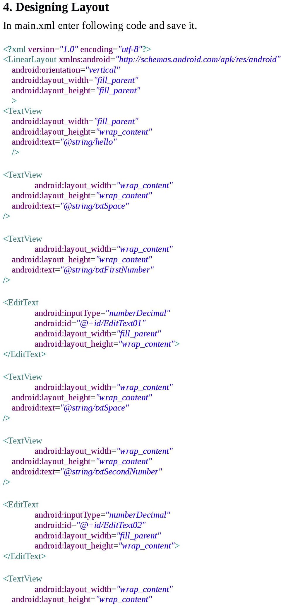 Create Android Sample Application: - PDF