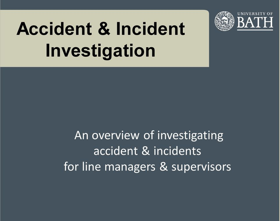 investigating accident &