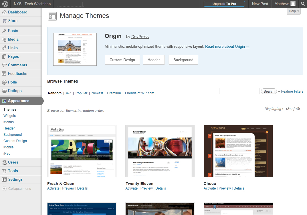 MAKING IT LOOK RIGHT Although there are premium themes and customization options that require a fee, there are plenty of free themes and options.
