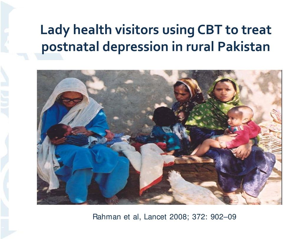 depression in rural Pakistan