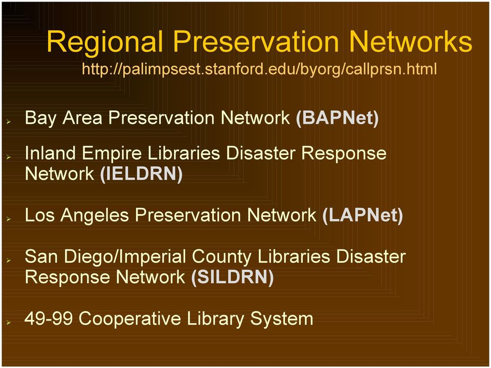 Inland Empire Libraries Disaster Response Network (IELDRN)!
