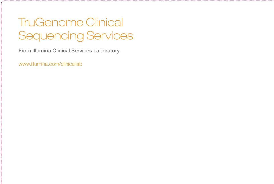 Illumina Clinical Services