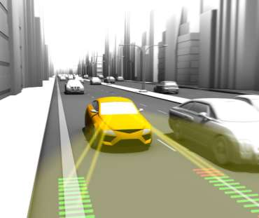 Example: Lane Departure Warning LDW / Lane Keeping Assistance LKA Lane Departure Warning provides the driver with optical or haptical warnings, such as steering wheel vibrations, protecting him from