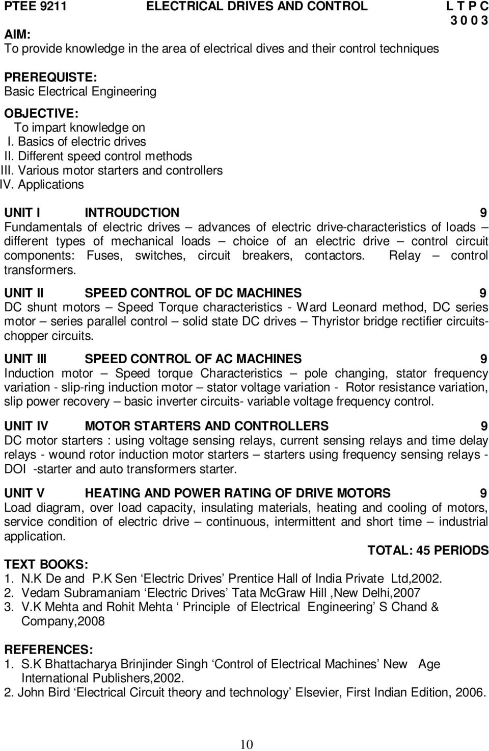 Electric Drives And Control Pdf