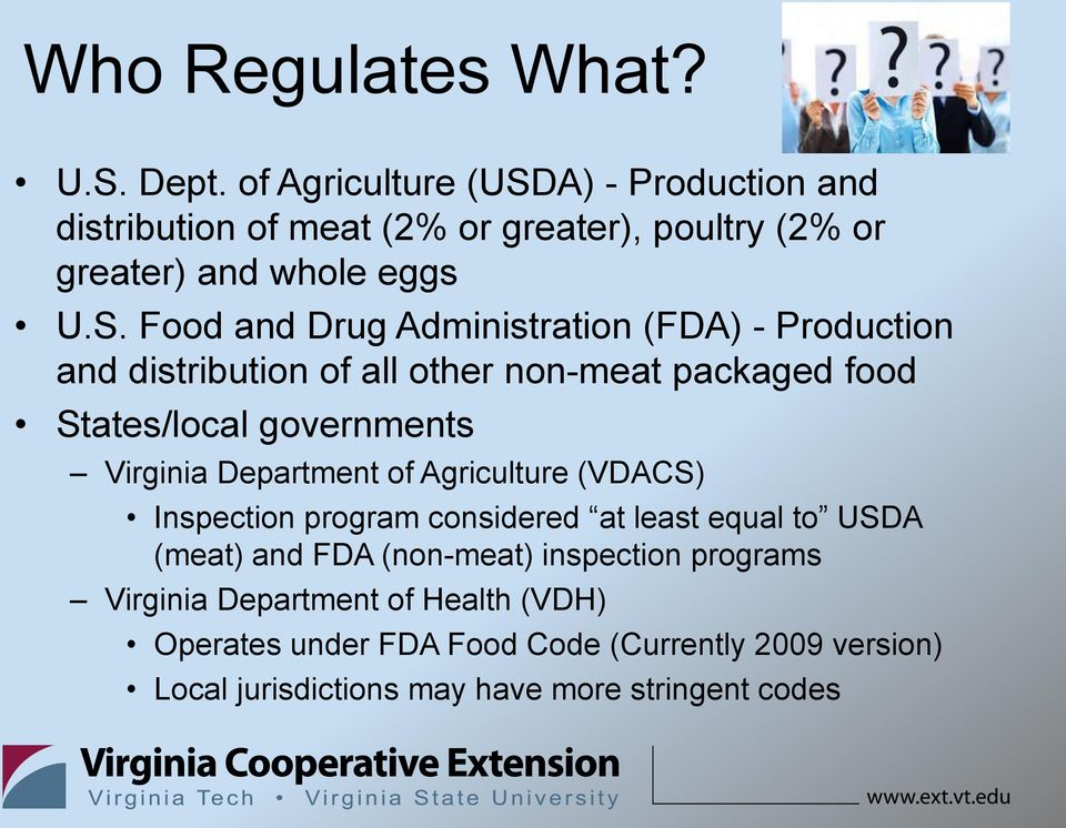 A) - Production and distribution of meat (2% or greater), poultry (2% or greater) and whole eggs U.S.