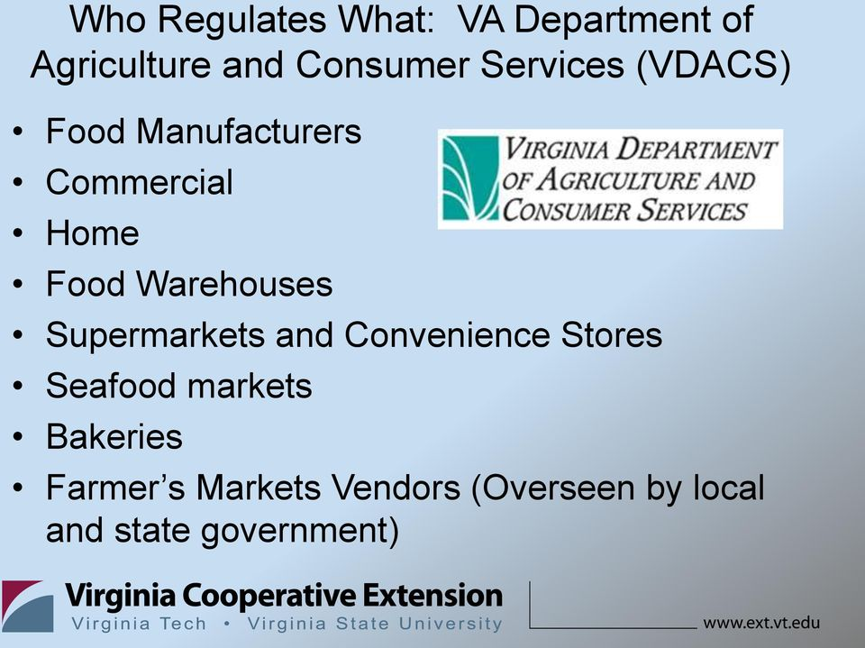 Warehouses Supermarkets and Convenience Stores Seafood markets