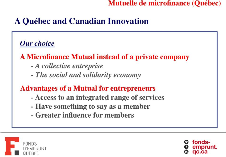 !!- The social and solidarity economy! Advantages of a Mutual for entrepreneurs!
