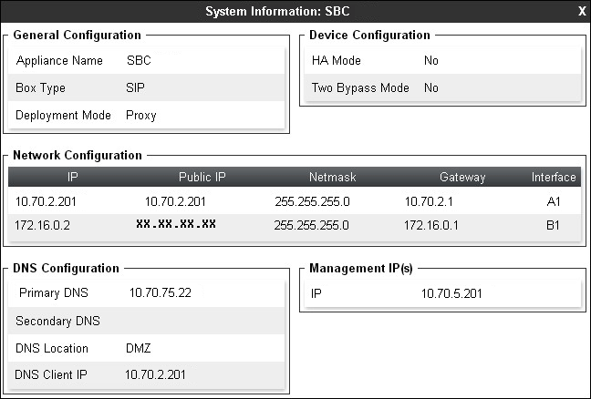 6.1. Network Management The Network Management screen is where the network interface settings are configured and enabled.