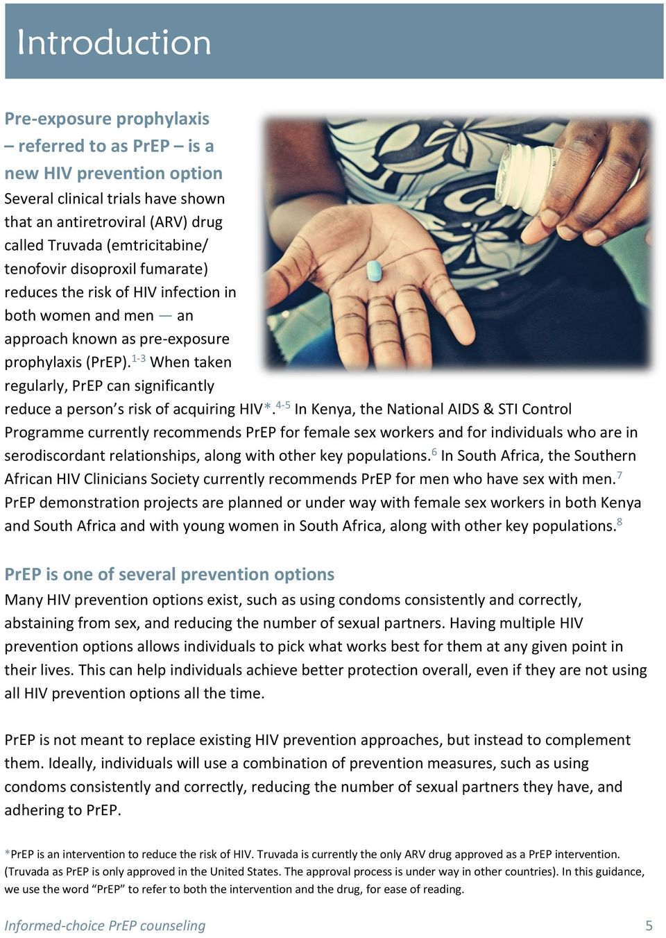 1-3 When taken regularly, PrEP can significantly reduce a person s risk of acquiring HIV*.
