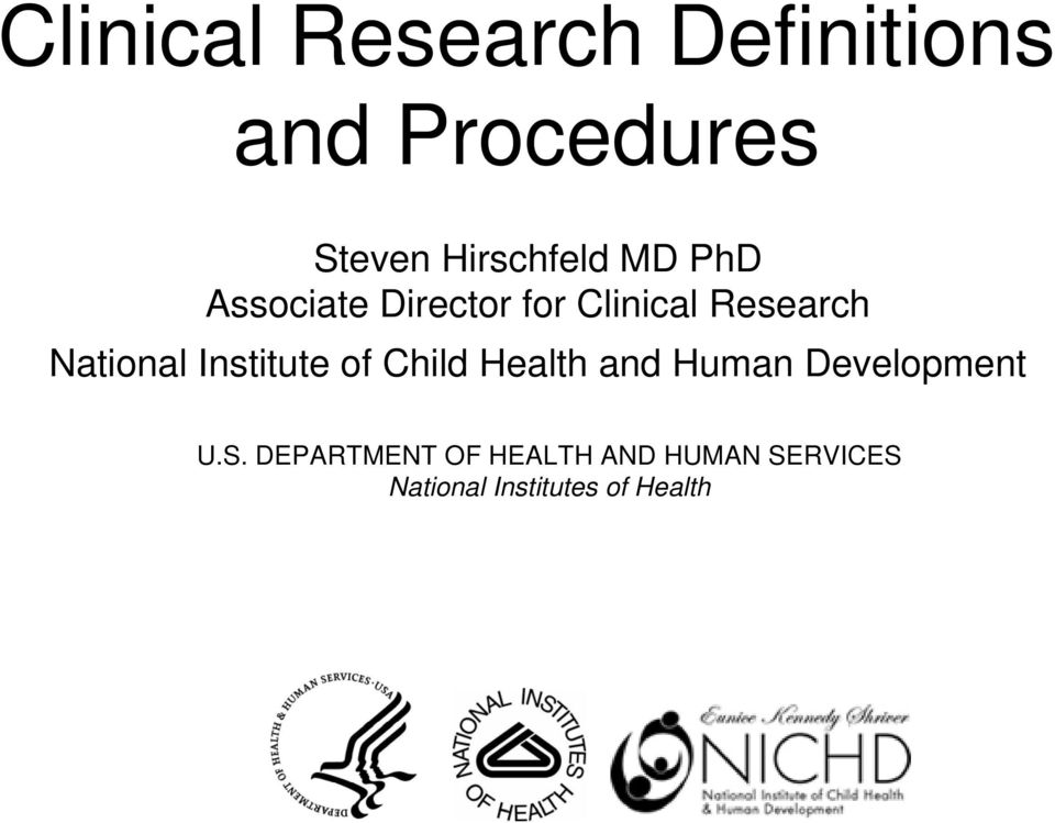 National Institute of Child Health and Human Development U.S.