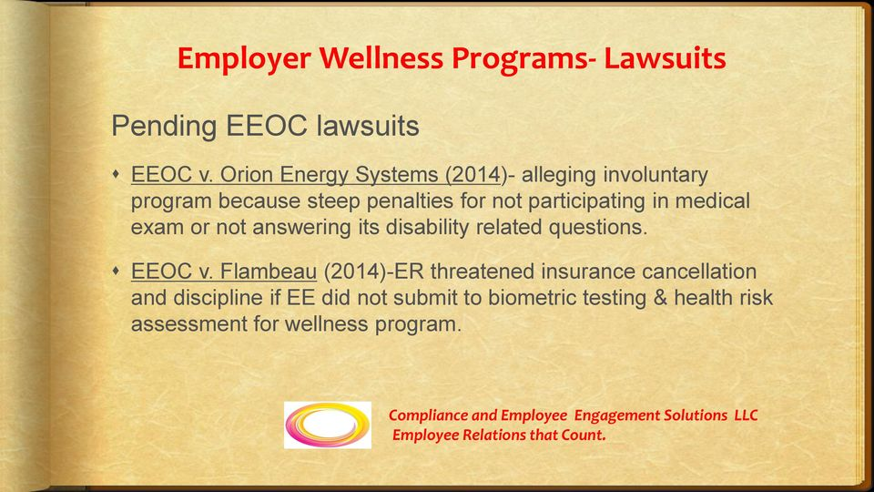participating in medical exam or not answering its disability related questions. EEOC v.