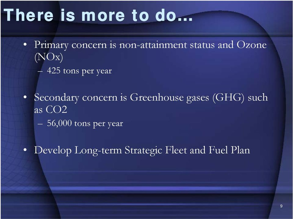 concern is Greenhouse gases (GHG) such as CO2 56,000