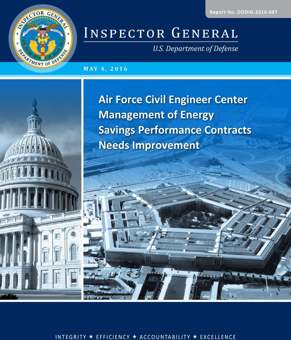 Center Management of Energy Savings Performance Contracts