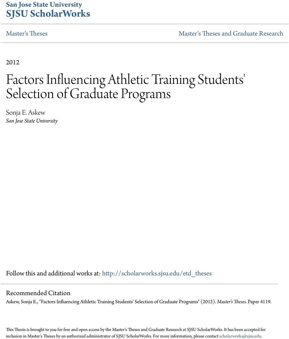 Athletic Training free essay editor download