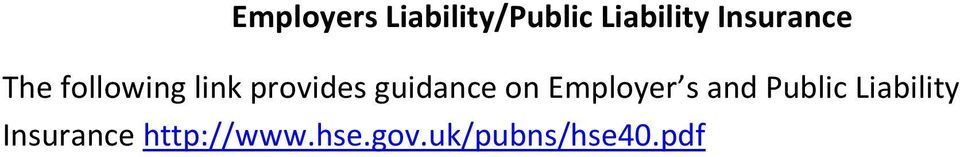 guidance on Employer s and Public