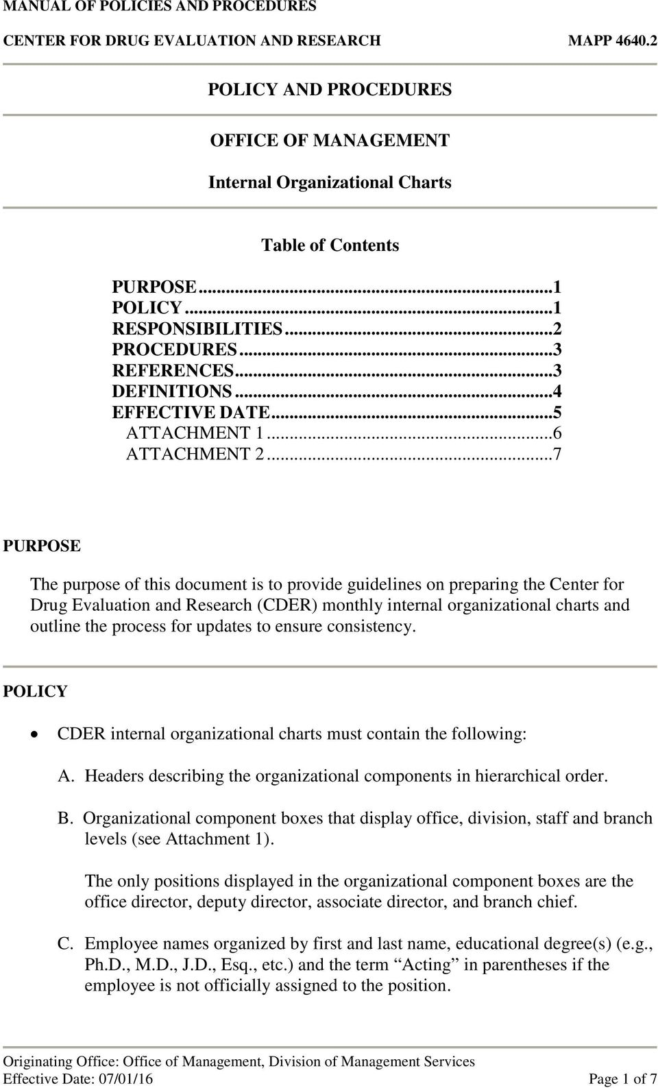 purpose of privacy policy in an organization pdf