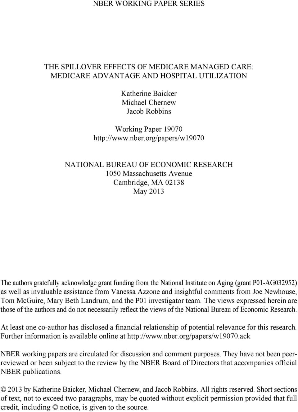 national bureau of economic research working paper series Nber working paper series disagreement about inflation expectations national bureau of economic research.