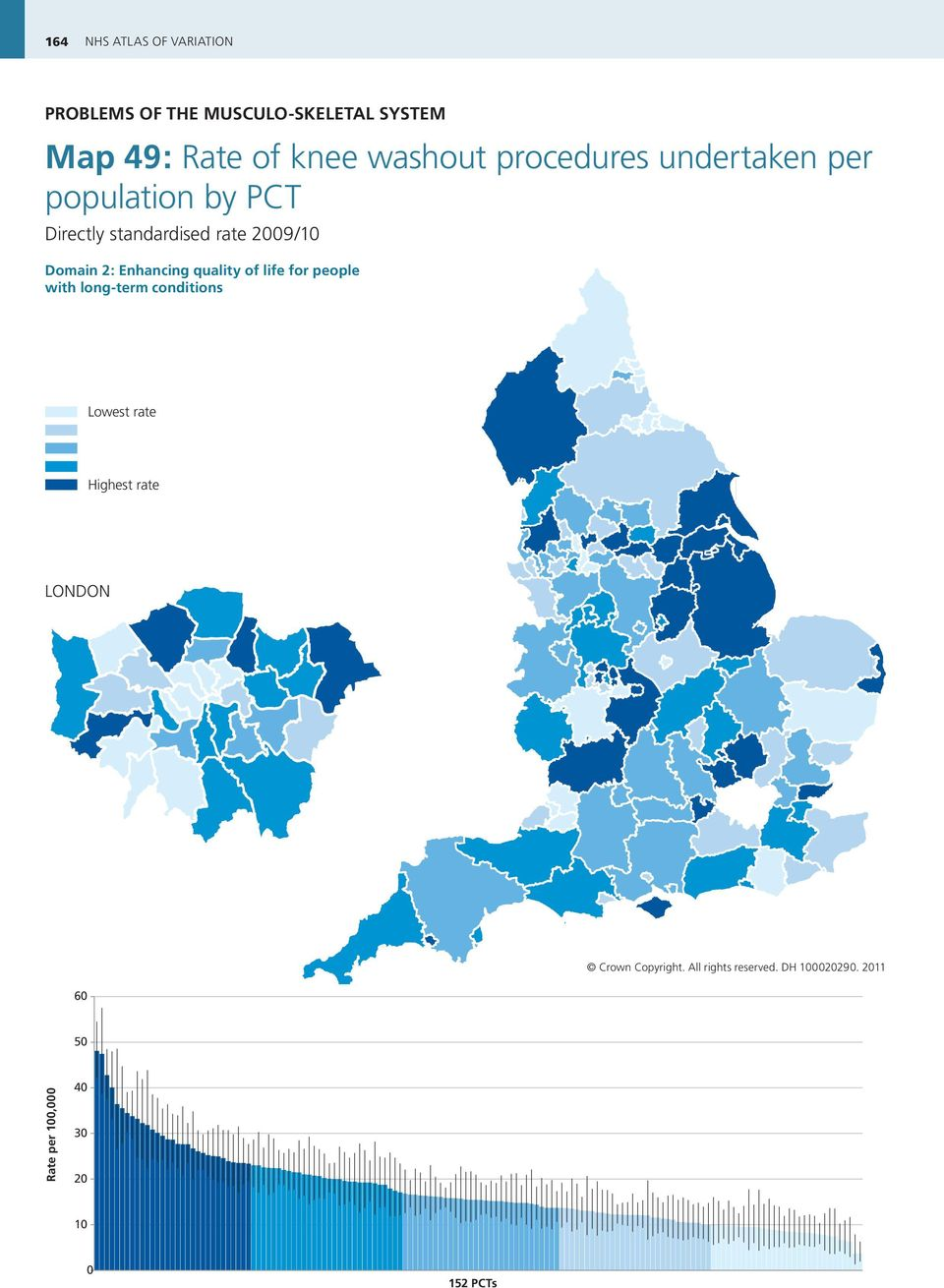 Enhancing quality of life for people with long-term conditions Lowest rate Highest rate LONDON