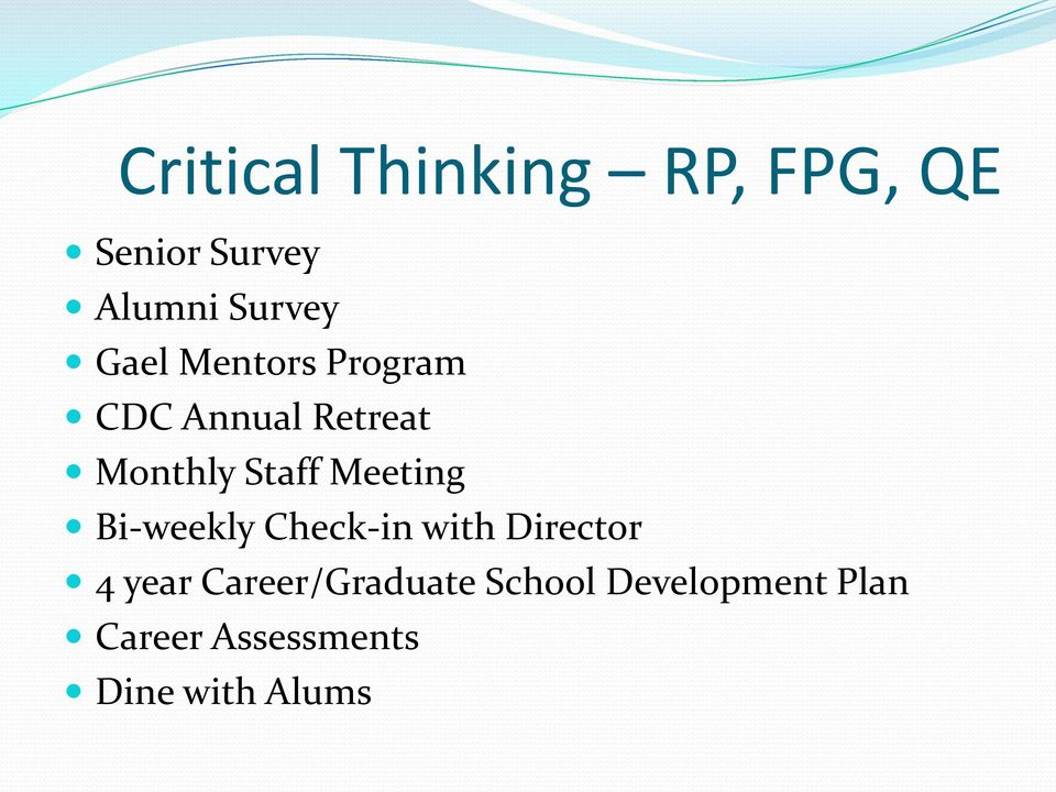 critical thinking graduate programs