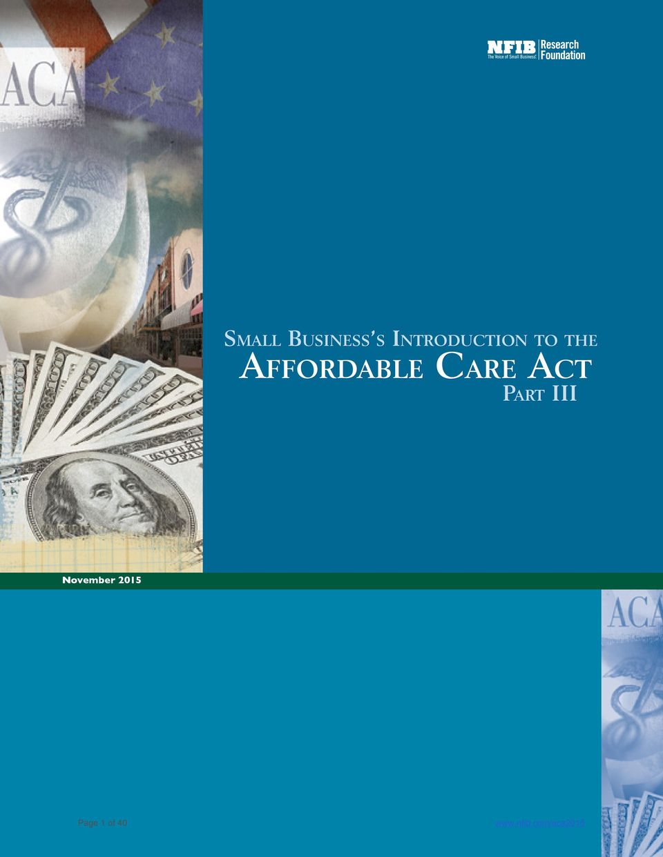an introduction to the affordable care act An estimated 169 million previously uninsured americans gained health  insurance coverage as a result of the affordable care act.