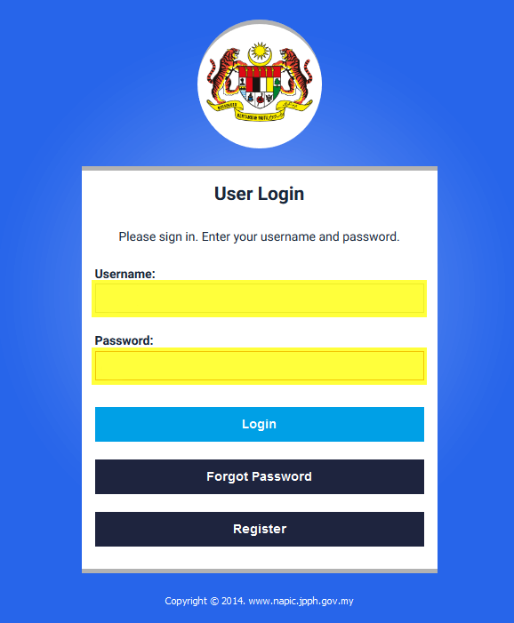 in With Admin User ID & Password, click login after