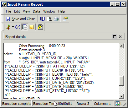 Input Parameters are Prompts in MicroStrategy 1 Import Table Metadata 2 Input Parameters imported as MSTR