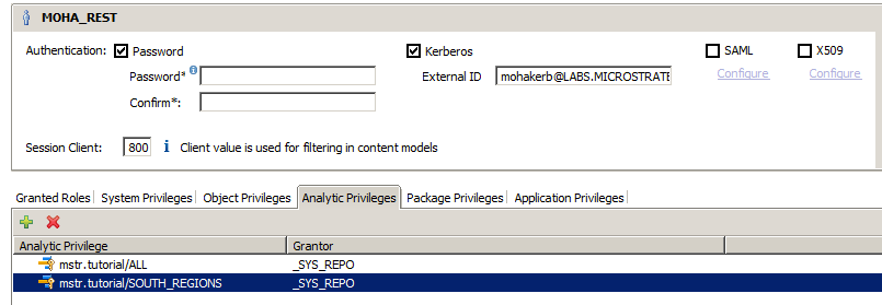 Security with SAP HANA Certified for Kerberos Pass-through Authentication on MicroStrategy Intelligence Server for Windows starting version 9.4.0.