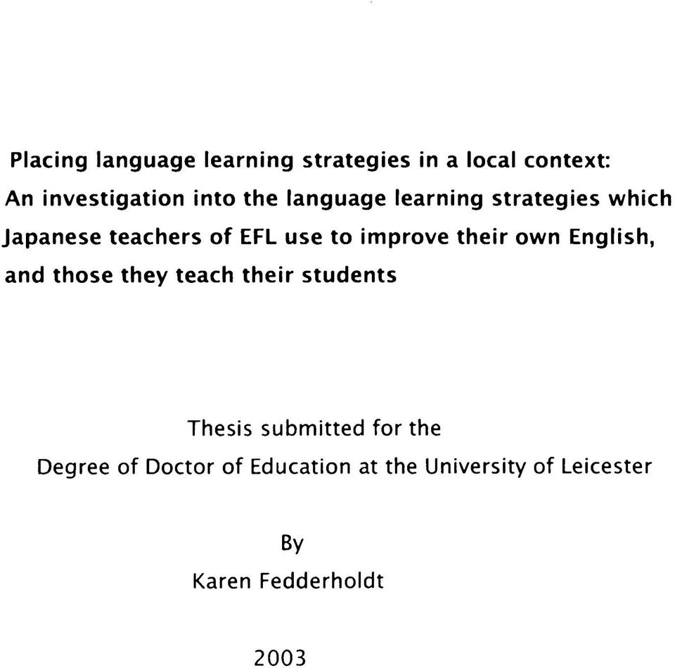 doctor of education thesis