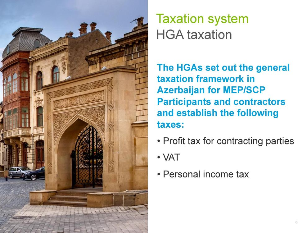 contractors and establish the following taxes: Profit tax for