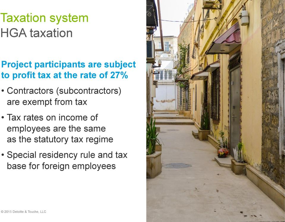rates on income of employees are the same as the statutory tax regime