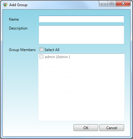 Managing ChromLab Groups 4. Type a name for the group and an optional description. Tip: The Name field is limited to 50 characters. The Description field has no character limit.