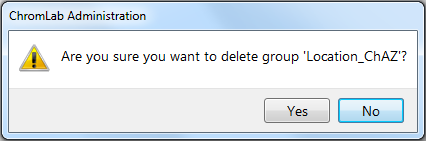 Chapter 7 Managing ChromLab Users and Groups in User Management Edition A message similar to the following appears. 4.