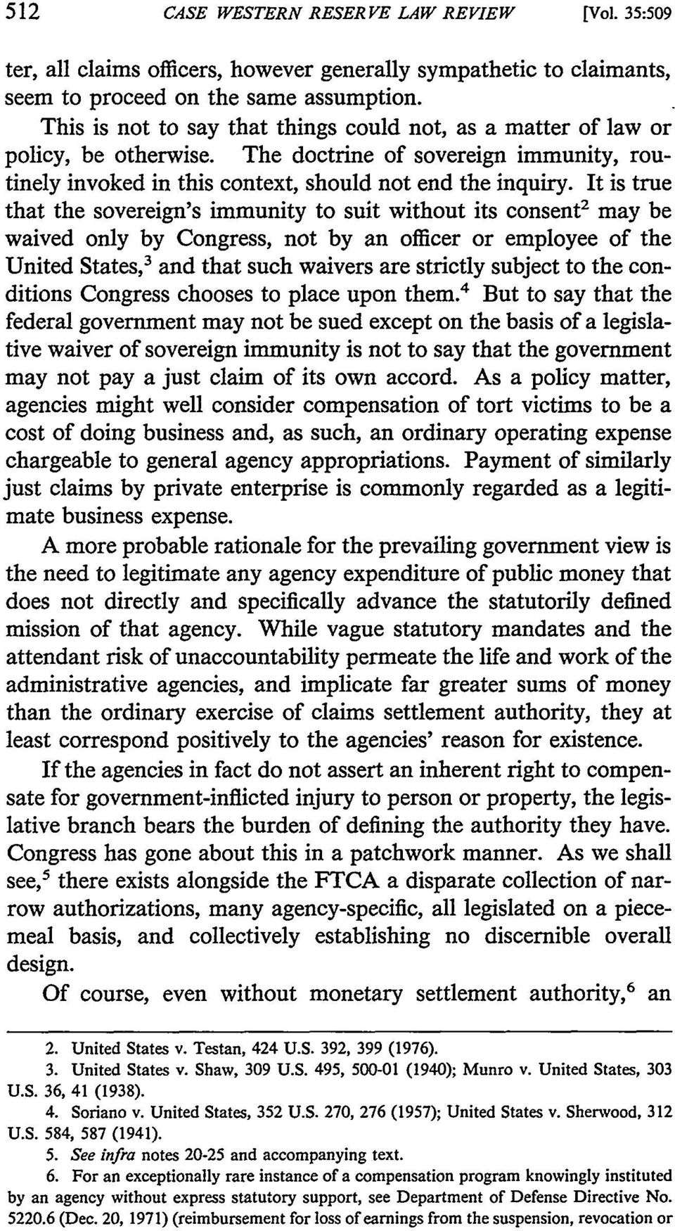state or federal tort claims act of 1946 1946, congress passed the federal tort claims act,24 which provided for a general waiver of federal immunity for all governmental torts subject to certain defined exceptions 25 many states subsequently en.
