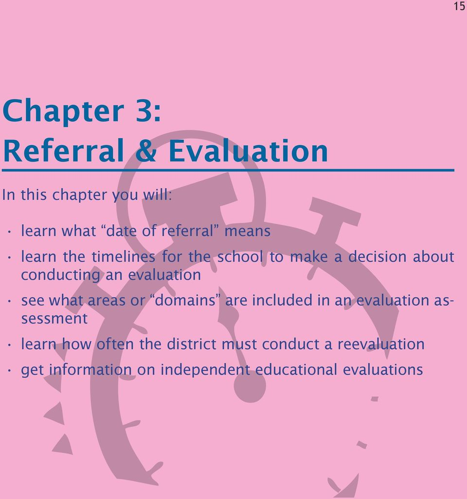 evaluation see what areas or domains are included in an evaluation assessment learn how