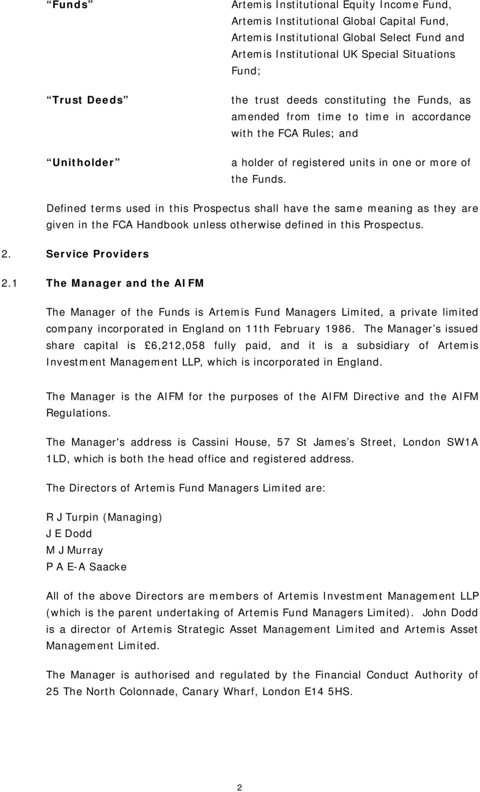 Artemis fund managers limited prospectus of the artemis - National westminster bank plc head office address ...