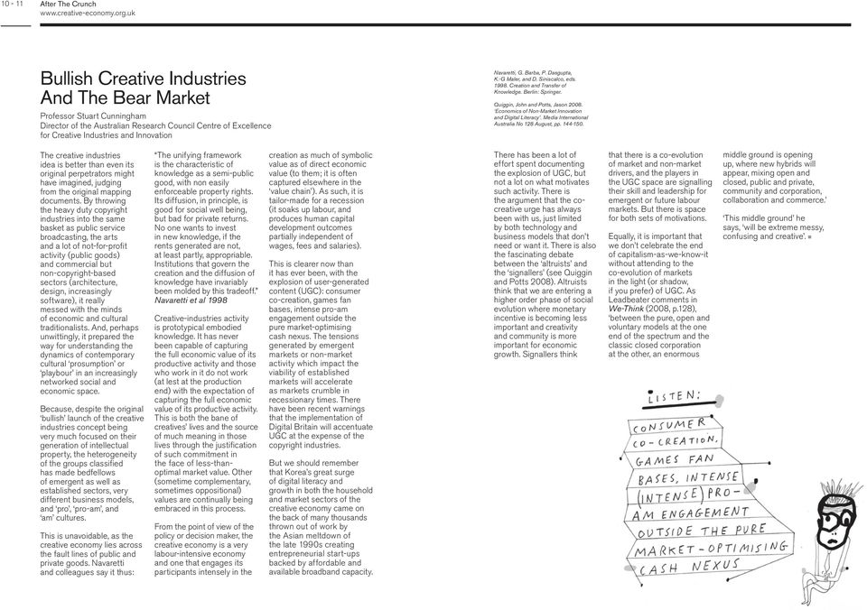 Economics of Non-Market Innovation and Digital Literacy. Media International Australia No 128 August, pp. 144-150.