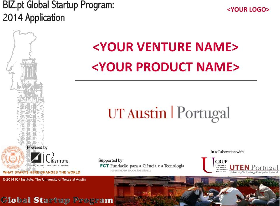 VENTURE NAME> <YOUR PRODUCT NAME>