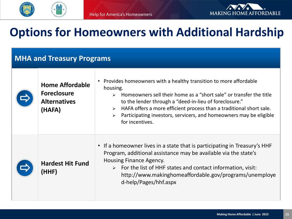 Participating investors, servicers, and homeowners may be eligible for incentives.