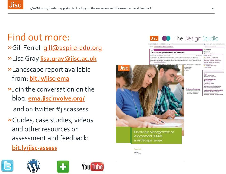 ly/jisc-ema»join the conversation on the blog: ema.jiscinvolve.