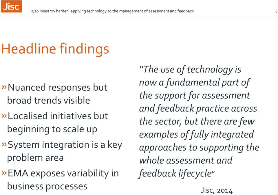 technology is now a fundamental part of the support for assessment and feedback practice across the sector,