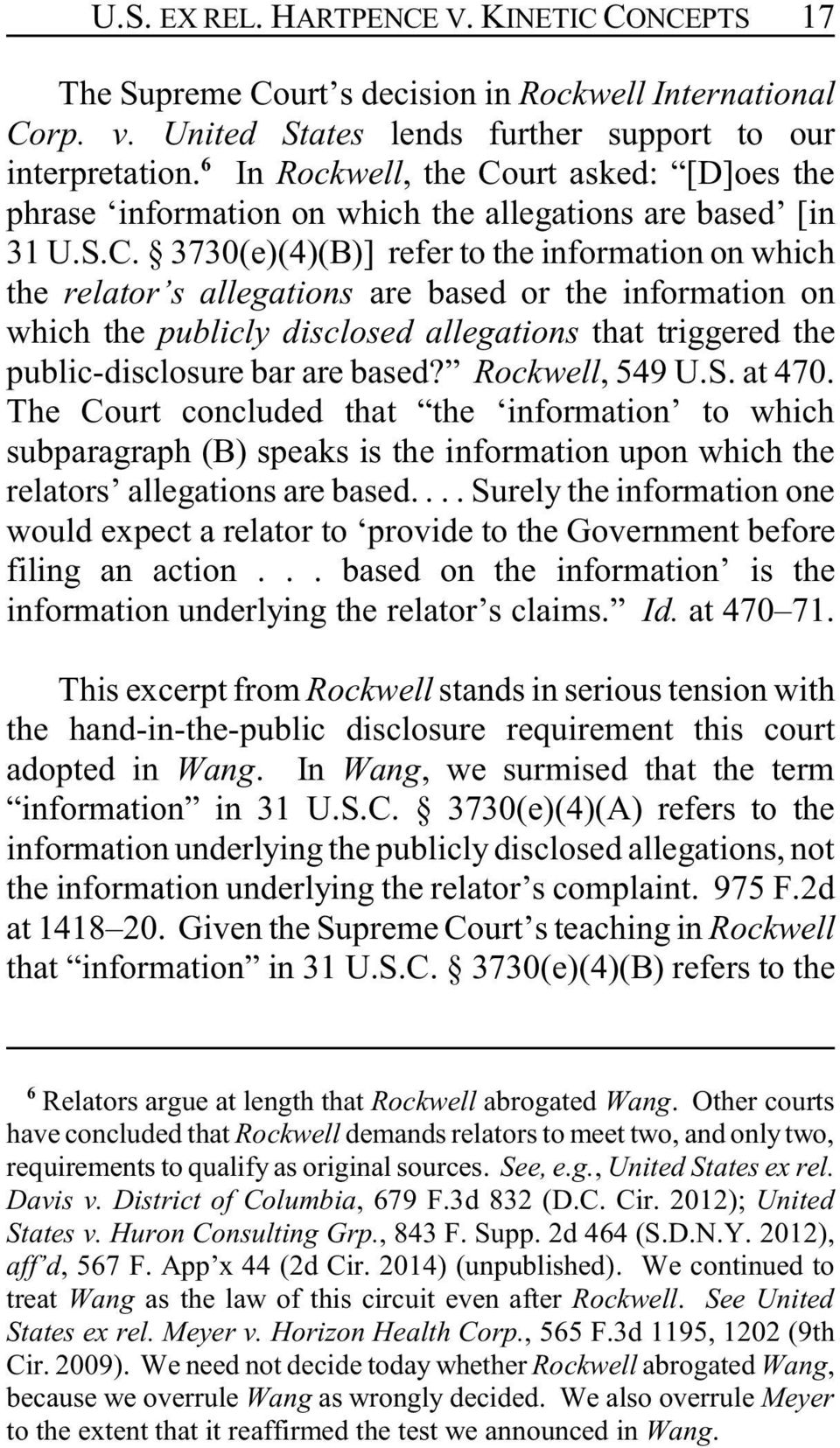 urt asked: [D]oes the phrase information on which the allegations are based [in 31 U.S.C.