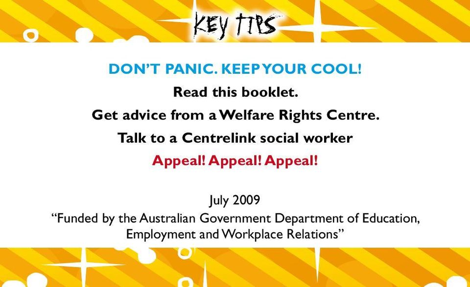 Talk to a Centrelink social worker Appeal!