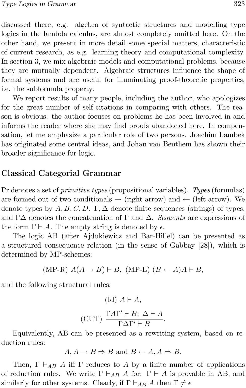In section 3, we mix algebraic models and computational problems, because they are mutually dependent.